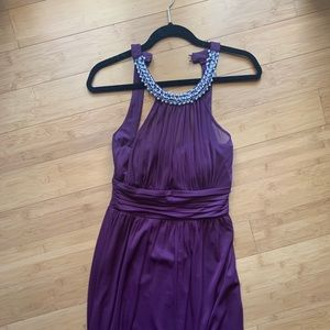 Speechless Dresses - Plum Gown with pearl neckline